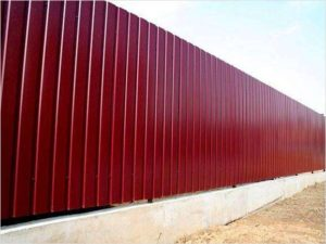 Забор из профнастила С8 Крашенный