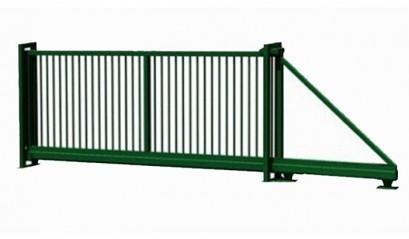 Ворота откатные усиленные из 3D сетки