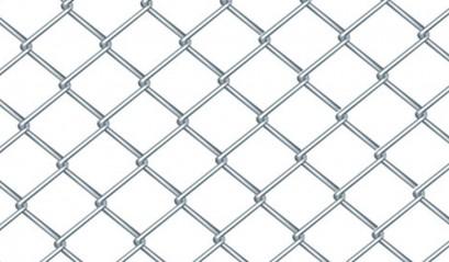 Забор из сетки рабицы цинк 1,5м