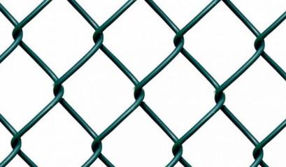 Забор из сетки рабицы в ПВХ 1,5м