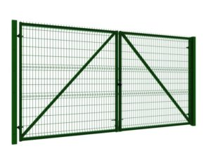 Ворота распашные из 3D сетки