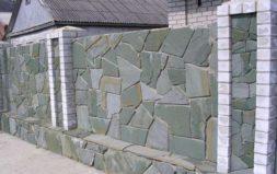 забор из плитняка