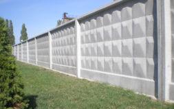 бетонный забор строительный