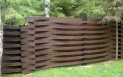 """Деревянный забор """"Плетеный забор"""""""