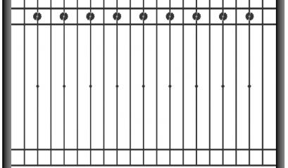 Кованый забор 1501