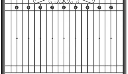 Кованый забор 1502