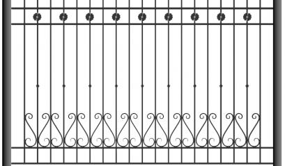Кованый забор 1503