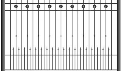 Кованый забор 1505