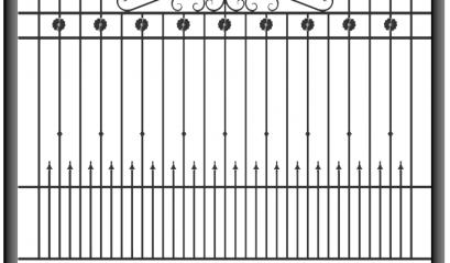 Кованый забор 1506