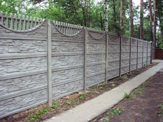 декоративный забор из бетона купить екатеринбург